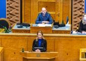 VAATA OTSE: peaminister Kaja Kallas vastab küsimustele riigikogu infotunnis