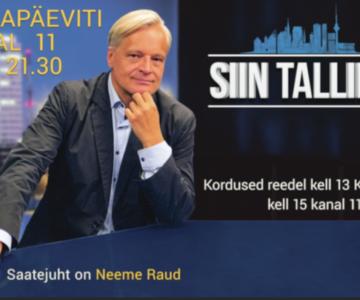"""Täna õhtul Kanal 11-s Neeme Raud """"Siin Tallinnast"""": kuidas pääseda Soome, millist elu elab pealinlane ja mida arvata Pätsi peast"""