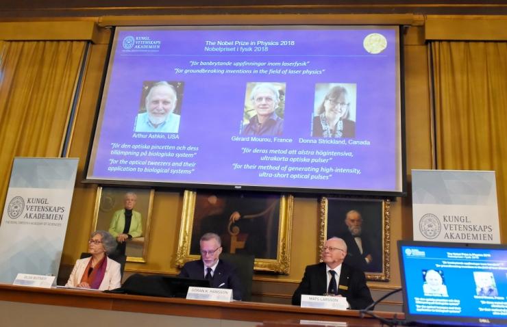 Nobeli füüsikapreemia pälvisid Ameerika, Prantsuse ja Kanada teadlased