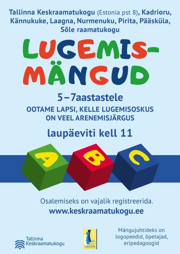 Tallinna Keskraamatukogu kutsub lapsi rõõmuga lugema