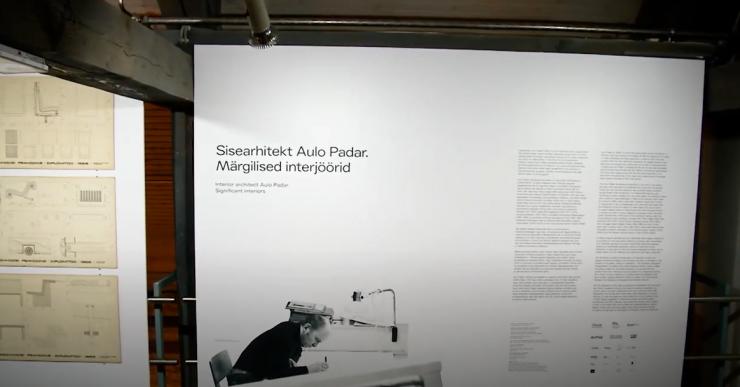 """VIDEO! Arhitektuurimuuseumis avati Aulo Padari näitus """"Märgilised interjöörid"""""""