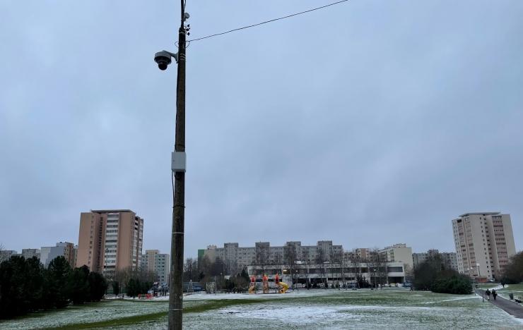 Turvakaamera jälgib Haaberstis Järveotsa keskuse piirkonda