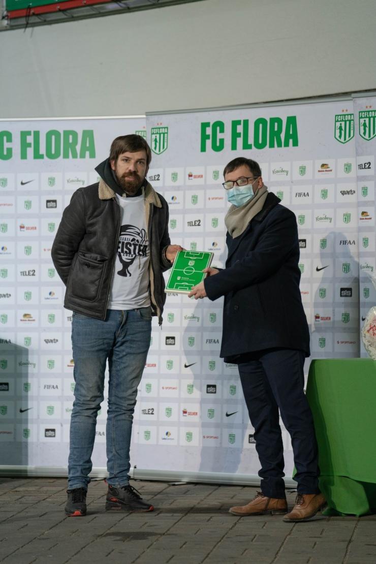 Kristiine linnaosa vanem õnnitles FC Florat Eesti meistrite liiga rekordilise võidu puhul