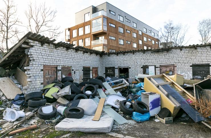 Suurjäätmete ja ohtlike jäätmete koht ei ole olmeprügi hulgas