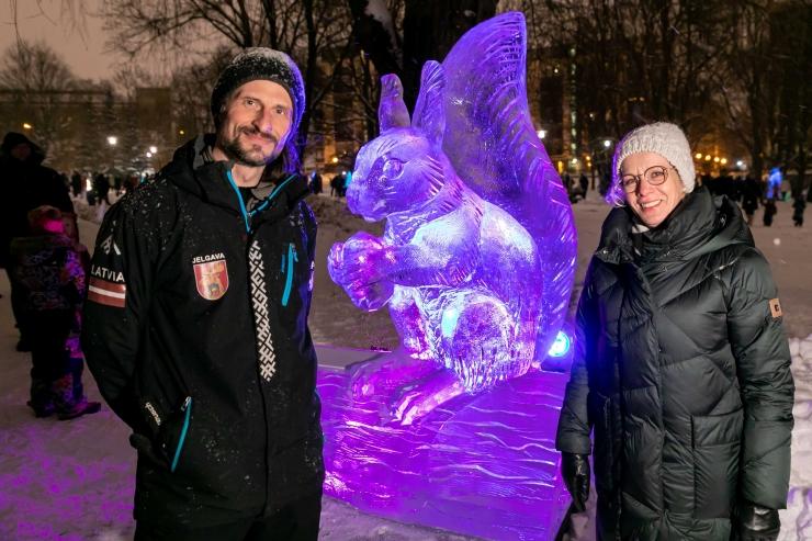VIDEO JA GALERII! Tallinna Tuvi park muutus jääskulptuuride pargiks