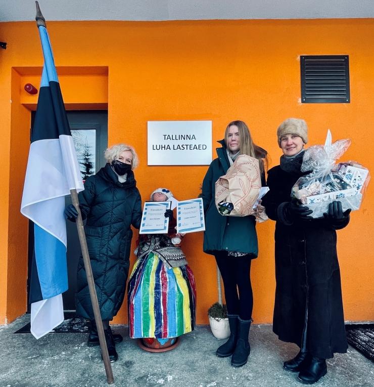 Tallinna kesklinna lasteaedu kaunistab iseseisvuspäeval uus riigilipp