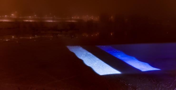 Pae järvel näeb Eesti lipu hiiglaslikku videoprojektsiooni
