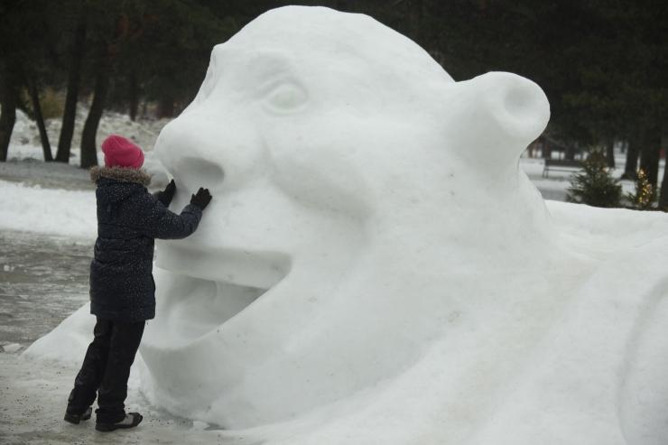 VIDEO! Lapsevanem: Männi pargi lumelinnas on vahvad tegelased