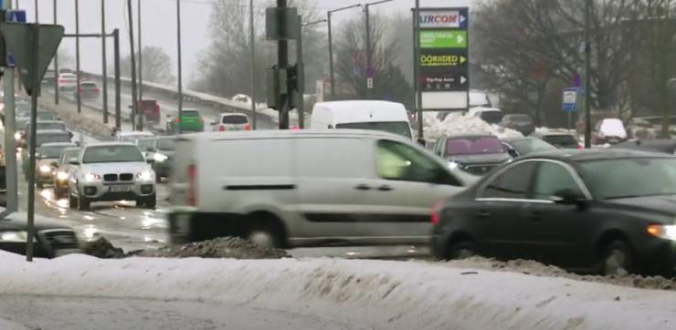 VIDEO! Peterburi tee remont muudab liikluse ida suunas sujuvamaks