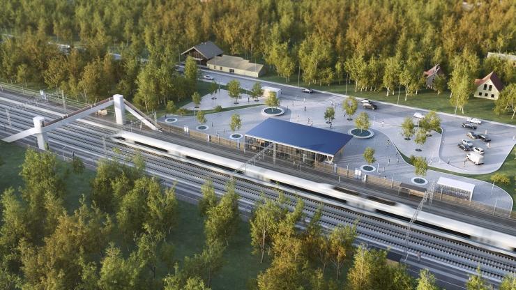 Saku vallaga sõlmiti koostöölepingud Rail Baltica kohalike peatuste rajamiseks