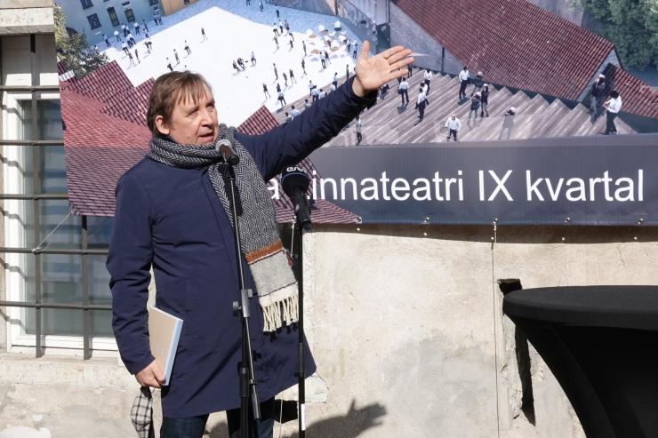 VIDEO JA FOTOD! Elmo Nüganen algavast ehitusest: uues majas saab teha mitmekesisemat teatrit